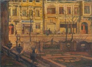 Max_Frey_Blick_aus_dem_Fenster_der_Kunstgewerbeschule_in_Dresden,_1914