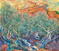 ulrich-leman-abend-in-den-olivenwäldern-von-s-on-bauzán