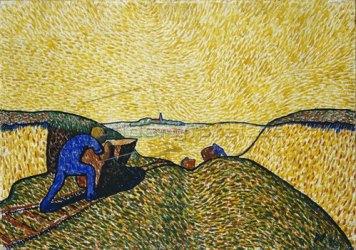 wilhelm-morgner-blauer-mann-mit-lore-1911