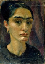 XKH155102 Self portrait (oil on panel); by Ree, Anita (1885-1933); 42.2x30 cm; Hamburger Kunsthalle, Hamburg, Germany; German, out of copyright