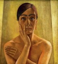 1-R956-A1930 Anita Ree, Selbstbildnis Ree, Anita, dt.Malerin, Hamburg 9.2. 1885 - Kampen auf Sylt 15.12.1933. 'Selbstbildnis', 1930. Oel auf Leinwand, 65,3 x 60,5 cm. Hamburg, Kunsthalle.