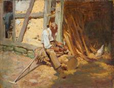 Robert_Sterl_-_Sensendengler_in_Wittenborn_(1901)