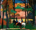 two-riders-in-the-forest-hermann-stenner-