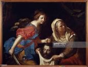C9018 , Giovanni Francesco Barbieri (1591-1666), known as Guercino, Italian School. Judith beheading Holofernes. 1651. Oil on canvas, 1.18 x 1.52 m. Brest, musee des Beaux Arts. , Guerchin Barbieri ( 1591-1666 ) Ec. Ital. , judith et la tete de holopherne ( date de 1651 huile sur toile 1;18 x 1;52 ) , Brest . Musee Des Beaux Arts