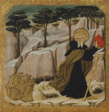 Saint_Anthony_Abbot_Tempted_by_Gold_by_Giovanni_di_ser_Giovanni_Guidi