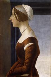 Sandro Botticelli (1445-1510) Portrait of a Young Women, c. 1475