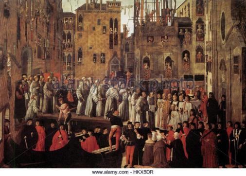 Giovanni mansueti, Miracle of the Relic of the Holy Cross in Campo San Lio 02