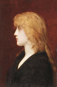 Jules-Joseph-Lefebvre-A-Young-Girl-in-Profile