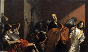 Mattia-Preti-The-Release-of-St-Peter-from-Prison-2-