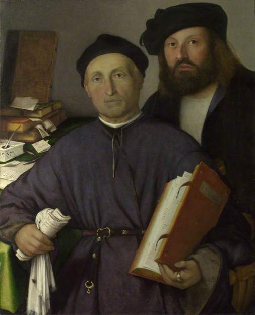 Lotto, Lorenzo; The Physician Giovanni Agostino della Torre and his Son, Niccolo; The National Gallery, London; http://www.artuk.org/artworks/the-physician-giovanni-agostino-della-torre-and-his-son-niccolo-115795