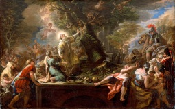 St._Nicolas_of_Bari_Felling_a_Tree_Inhabited_by_Demons_by_Paolo_De_Matteis,_oil_on_canvas,_c._1727,_High_Museum_of_Art