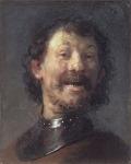 Laughing man, byRembrandt